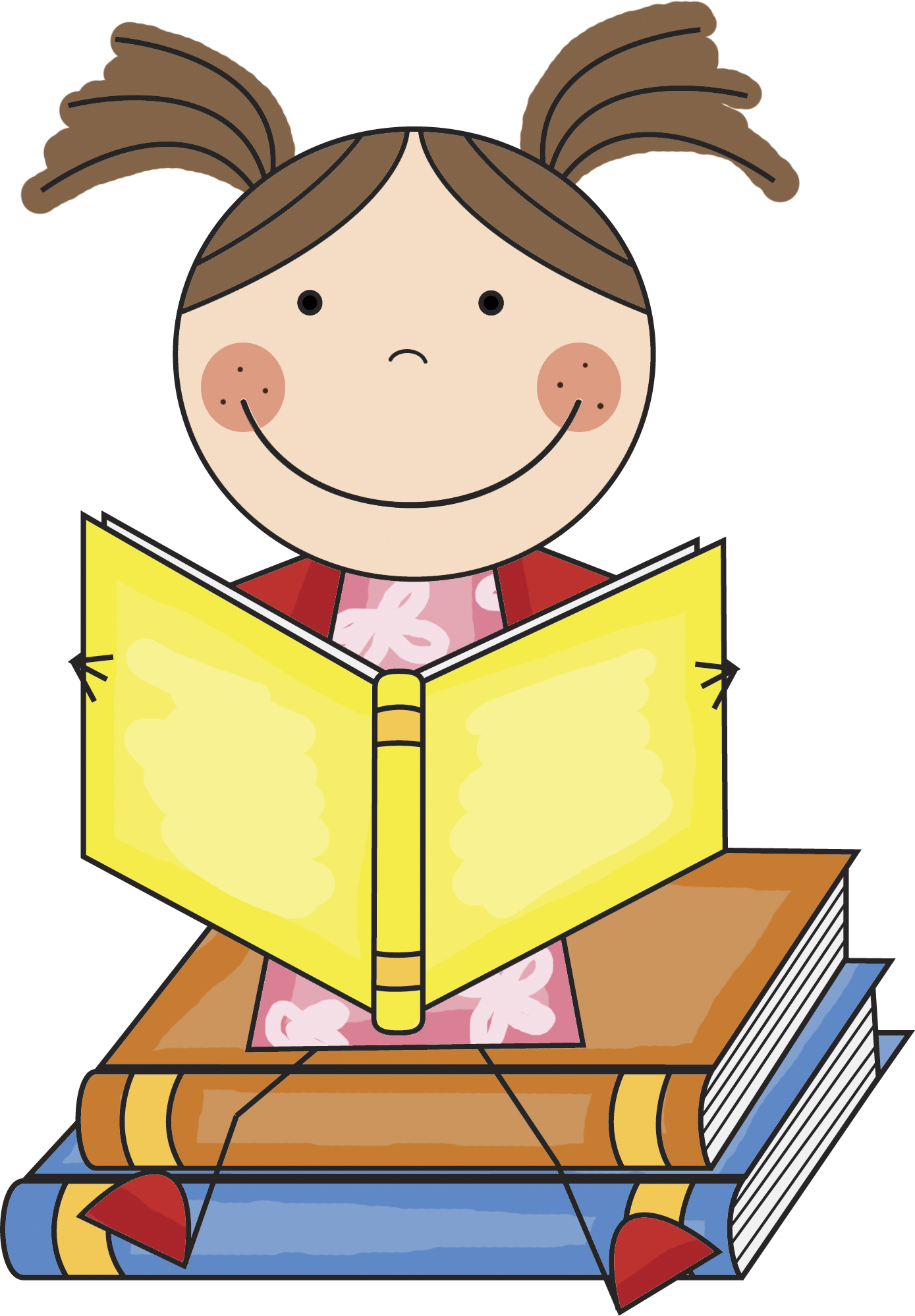 Student Reading Clipart
