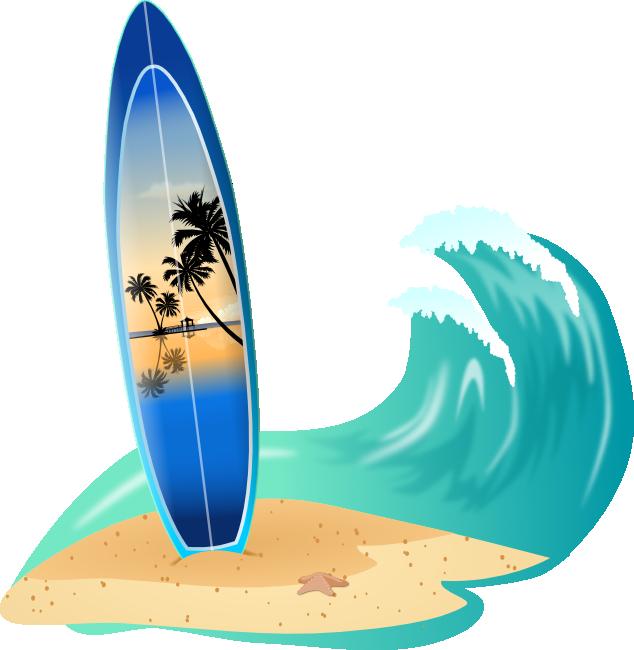 Cartoon Surfboard Clipart Free Clip Art Images
