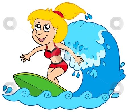 Cartoon Surfer Clipart #1-Cartoon Surfer Clipart #1-1