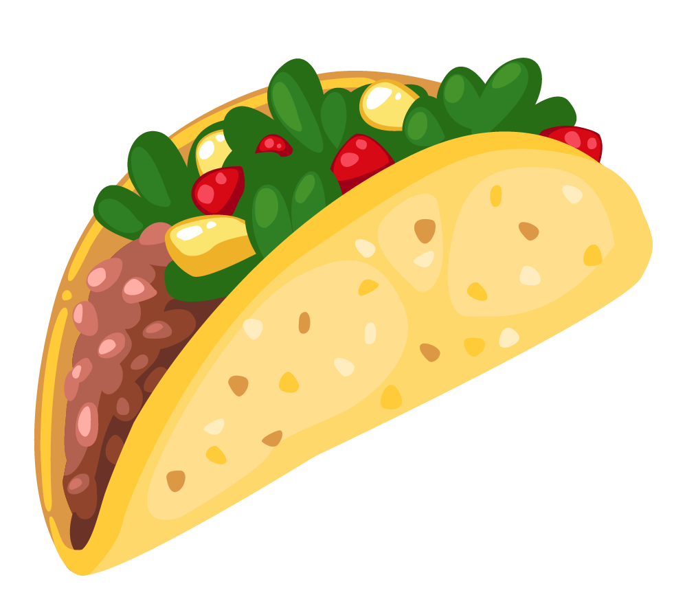 Cartoon taco clip art 3 clipartcow