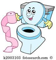 Cartoon Toilet-Cartoon toilet-2