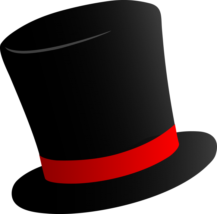Cartoon top hat clipart - .