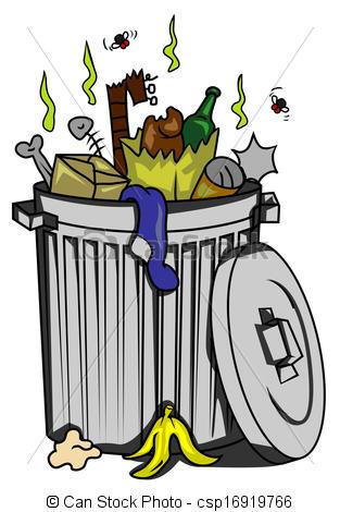 Cartoon trash can Clipartby clairev37/16-Cartoon trash can Clipartby clairev37/16,483; trash can-13