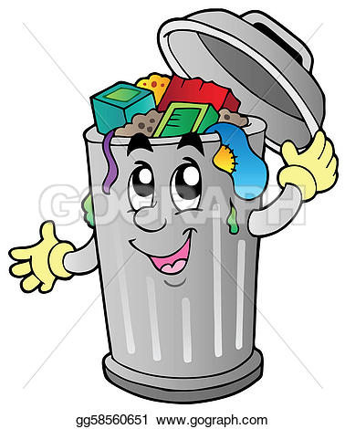 Cartoon trash can - Trash Clip Art