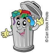Cartoon Trash Can - Vector Illustration.-Cartoon trash can - vector illustration. Cartoon trash can Clipartby ...-2