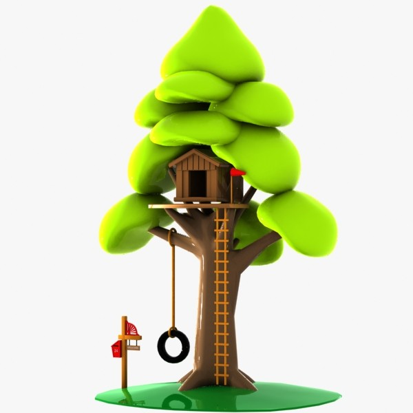 cartoon tree house 3ds - Clipart library - Clipart library