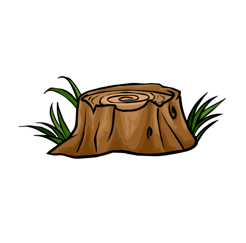 Cartoon Tree Stump Clipart Best