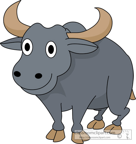 Cartoon Vector Illustration Cartoon Illustration Of Funny Cute Buffalo