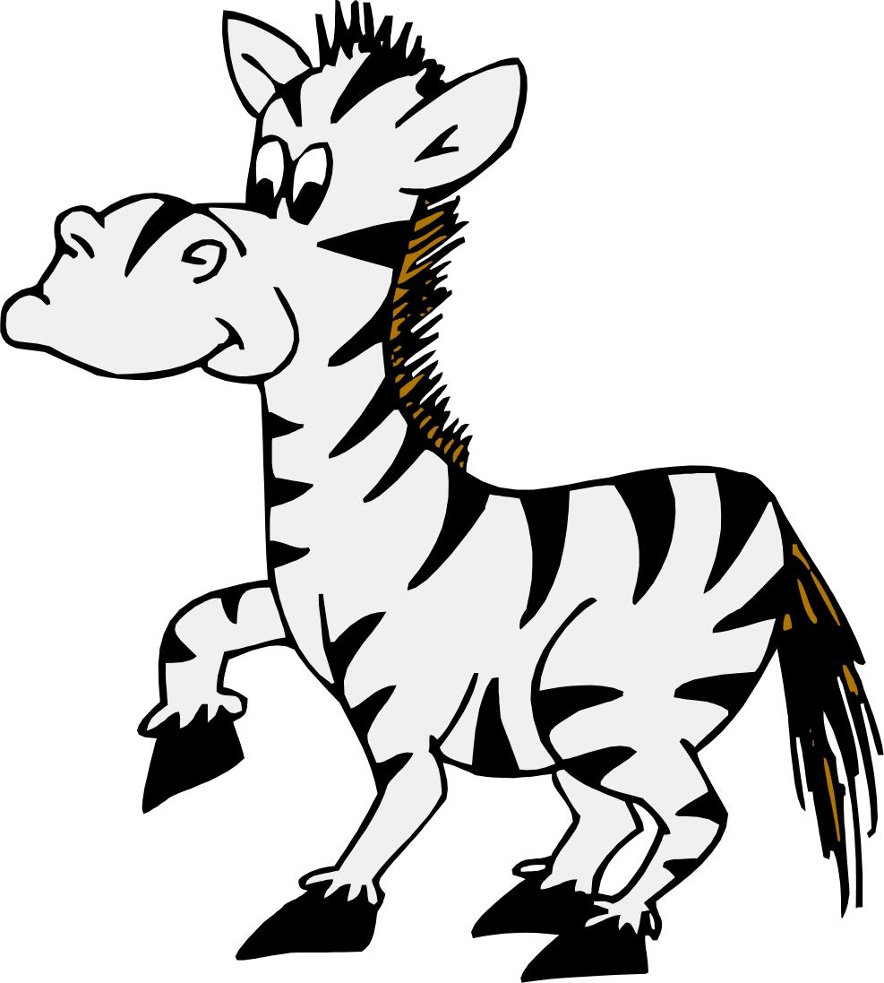 Cartoon Zebra - Zebra Clip Art