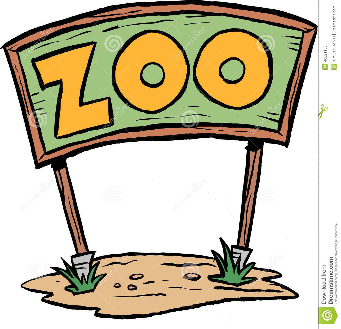 Cartoon Zoo Sign Clipart #1