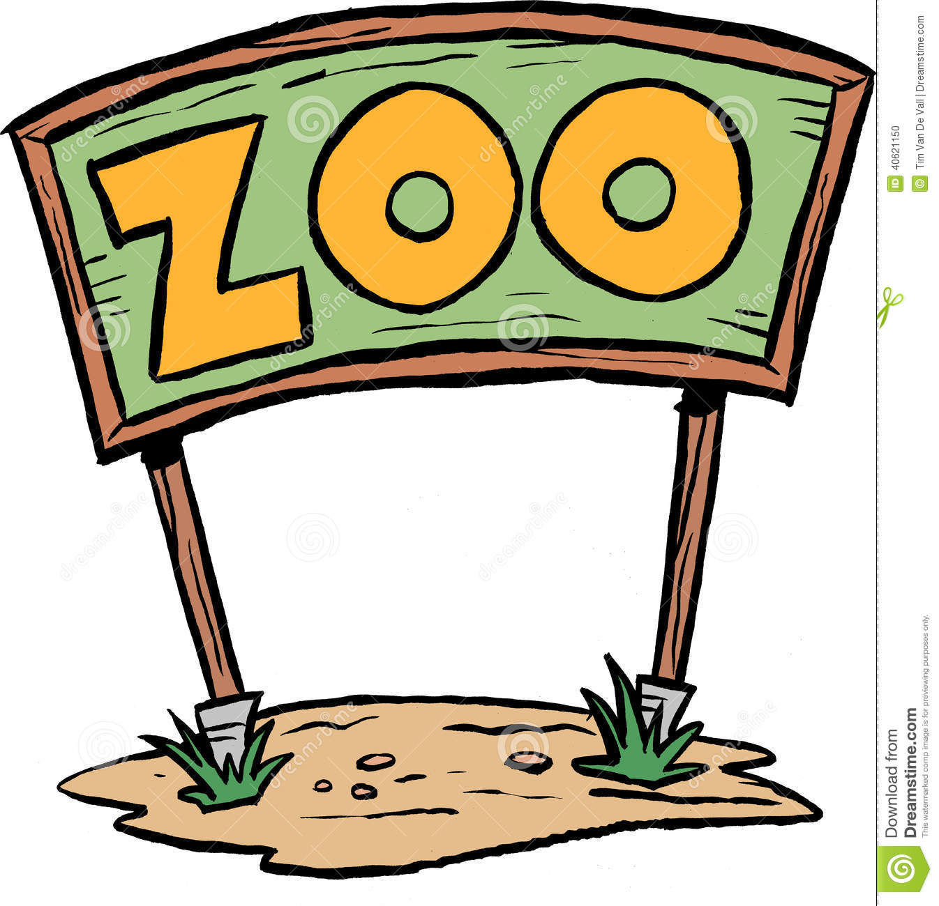 Cartoon Zoo Sign Clipart #1