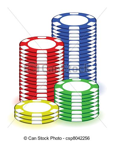 ... Casino Poker Chips Illustration Desi-... Casino poker chips illustration design on white background-9