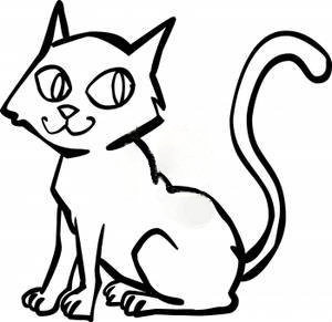 cat clip art black and white - Cat Clipart Black And White