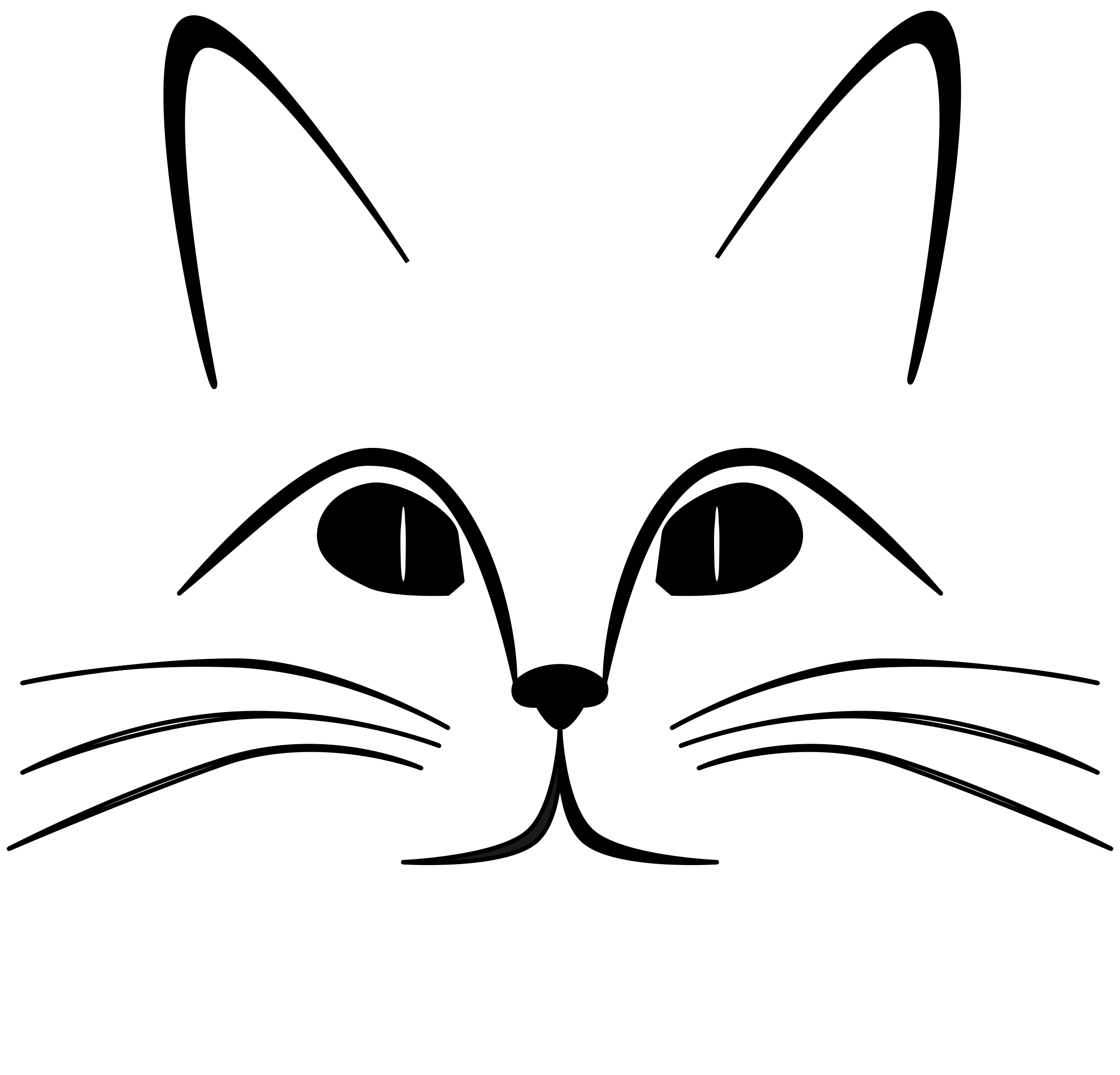 Cat Face Clipart-cat face clipart-2