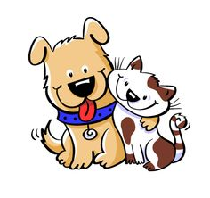 Cat and Dog ©JackieStafford. Clipart ..-Cat and Dog ©JackieStafford. Clipart ...-7