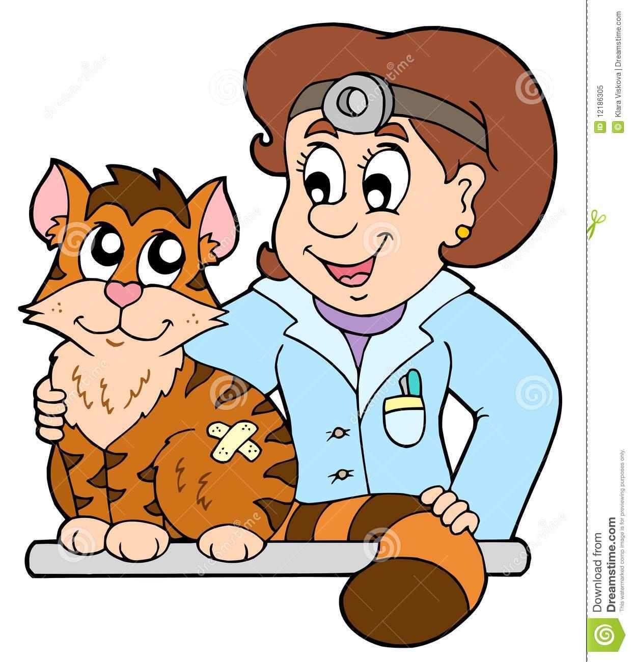 Cat At Veterinarian Royalty Free Stock P-Cat at veterinarian Royalty Free Stock Photo-1