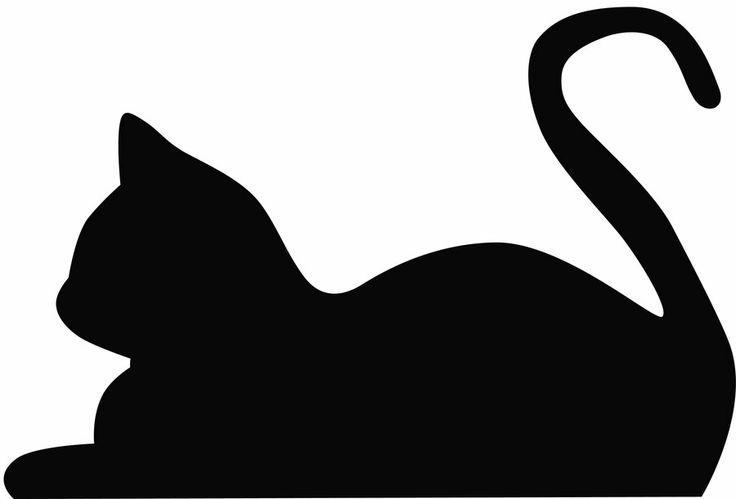 Cat Clip Art Silhouette .
