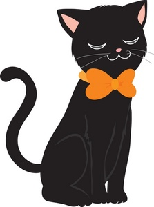 Cat Clipart Halloween. 15.7Kb 223 x 300 Black cat .