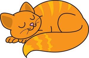 Cat Clipart Image Sleeping Cat