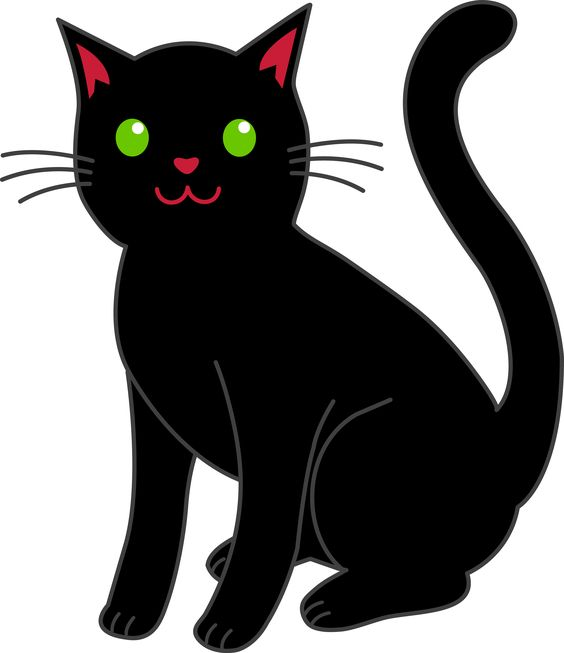 cat clipart | Simple Black Halloween Cat - Free Clip Art