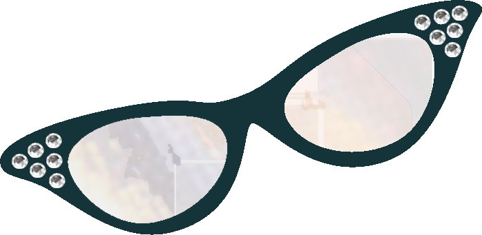 Cat eye glasses clipart