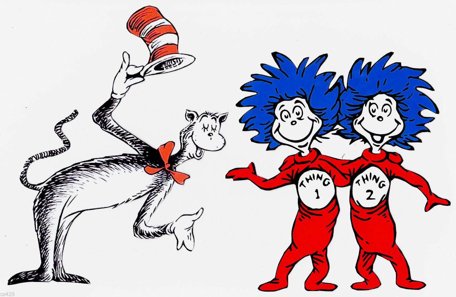 Cat in the hat border clip ar - Thing 1 And Thing 2 Clipart