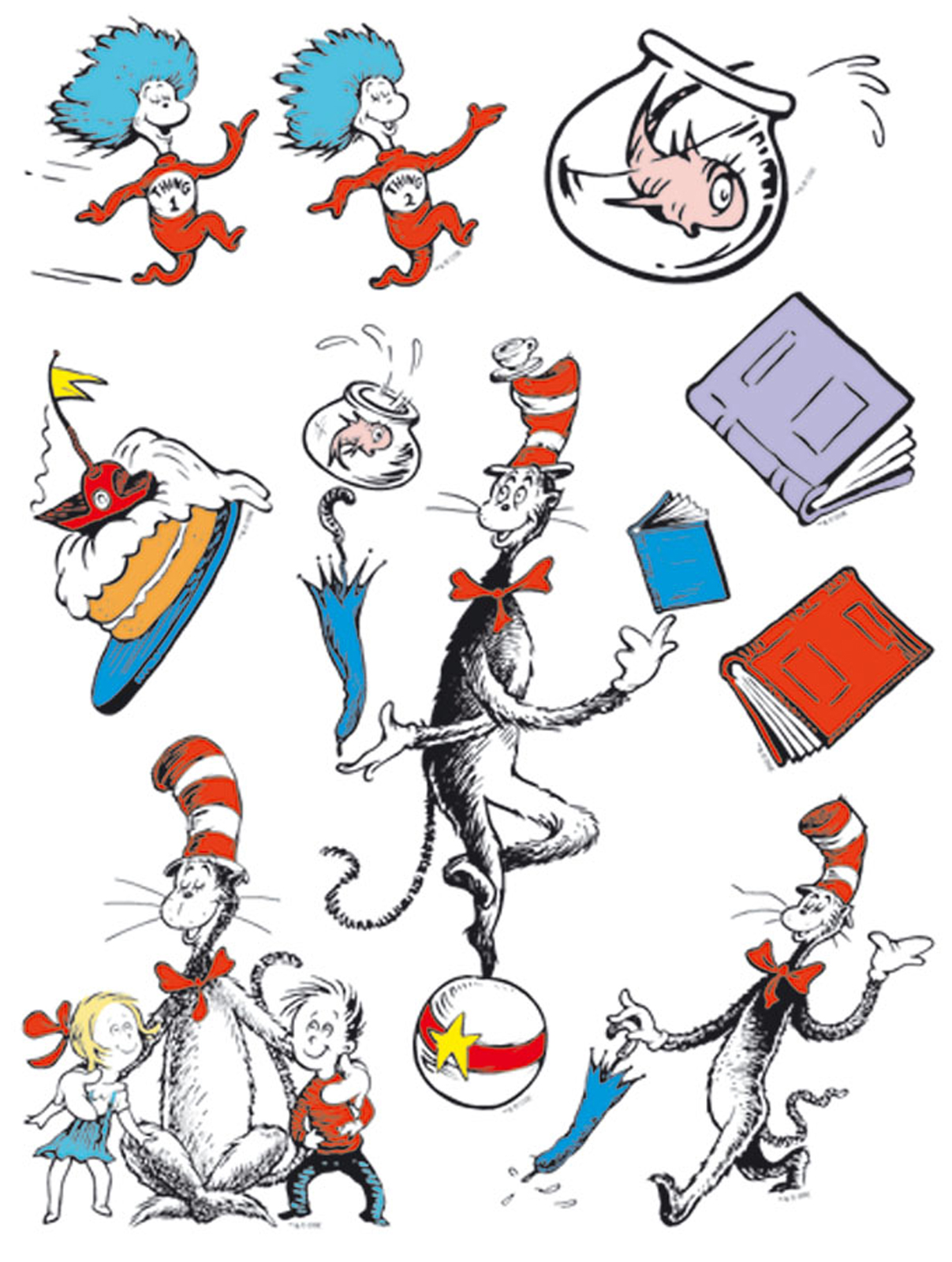 Cat in the hat clip art images .