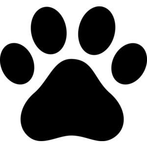Cat Paw Clipart. Black Paw Print Silhoue-cat paw clipart. Black Paw Print Silhouette .-1