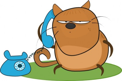 Cat Talking In Phone Clip Art Vector Clip Art Free Vector Free