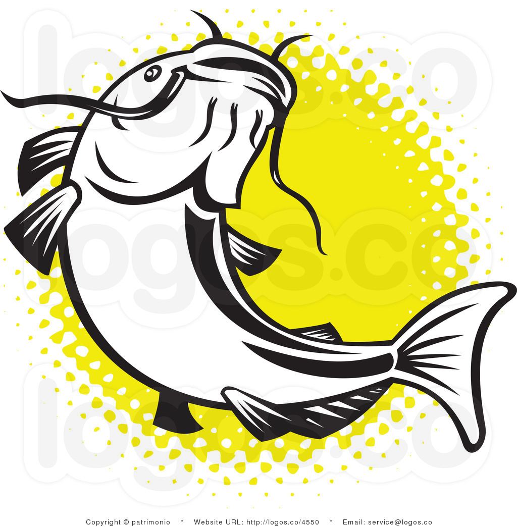 Catfish Clipart Royalty Free Catfish Over Yellow Logo By Patrimonio