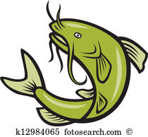 Catfish Fish Jumping Cartoon