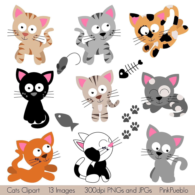 Cats Clipart Clip Art Kitten  - Kitty Cat Clip Art