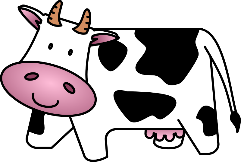 Cattle Clip Art - Baby Cow Clipart
