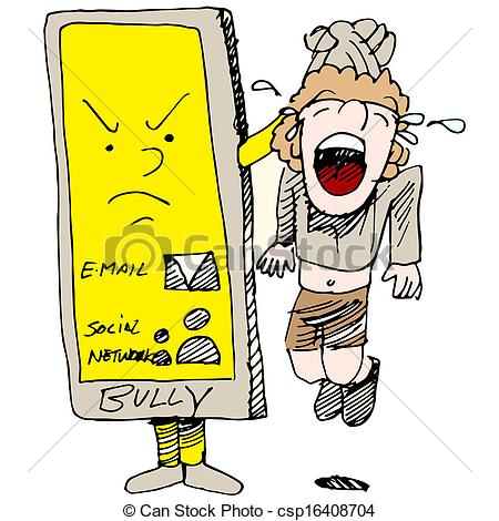 ... Caught Cyber Bullying - An Image Of -... Caught Cyber Bullying - An image of a child caught cyber.-3