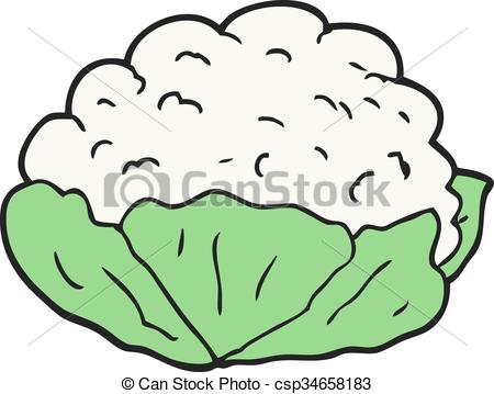 cartoon cauliflower - csp34658183