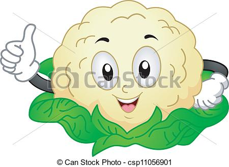 Cauliflower Mascot - csp11056 - Cauliflower Clipart