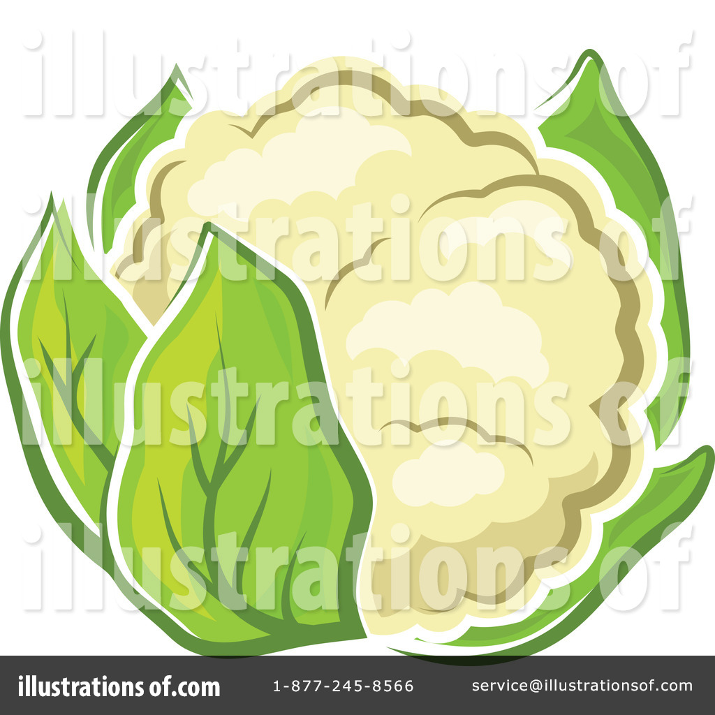 Royalty-Free (RF) Cauliflower Clipart Illustration by Vector Tradition SM -  Stock Sample