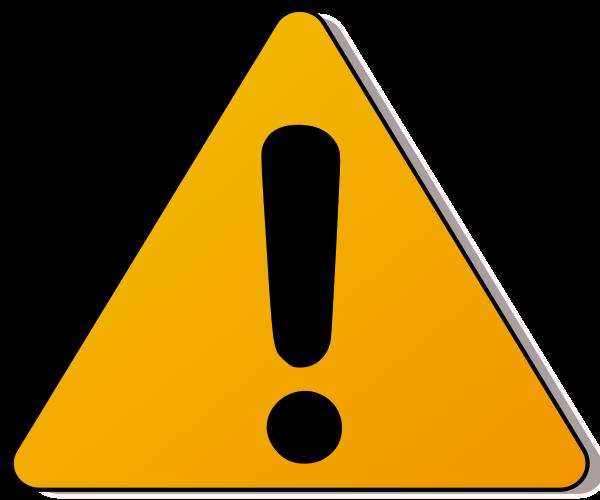 caution sign clipart