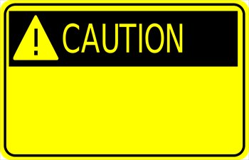 Caution Clip Art. caution-sign-w-exclamation