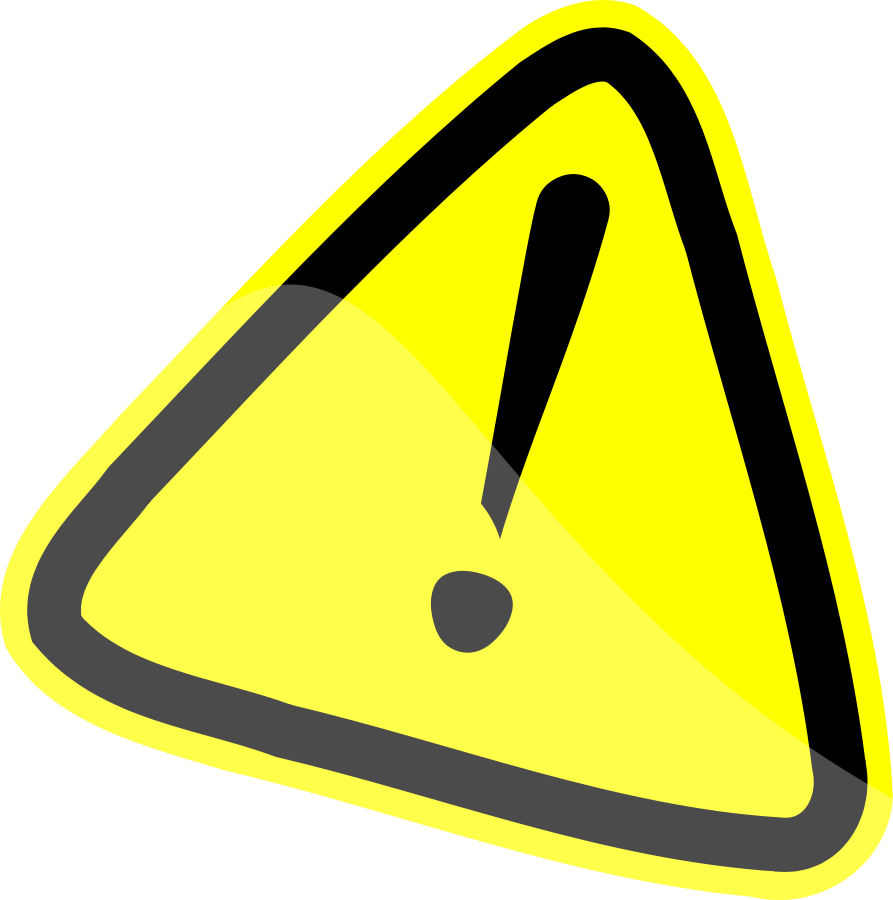 Caution sign clip art warning - Caution Sign Clipart