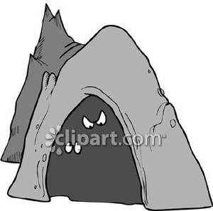 Cave Clipart Eyes Peeking Out Cave Royalty Free Clipart Picture 081217