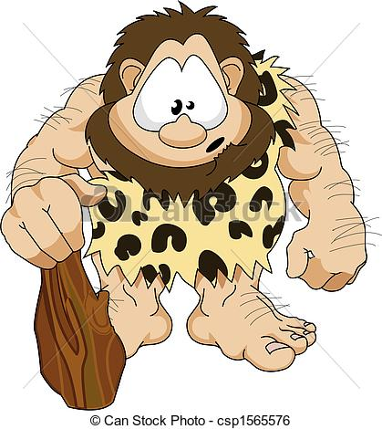 Caveman - An Illustration Of A Cute Hair-Caveman - An illustration of a cute hairy caveman with a.-7