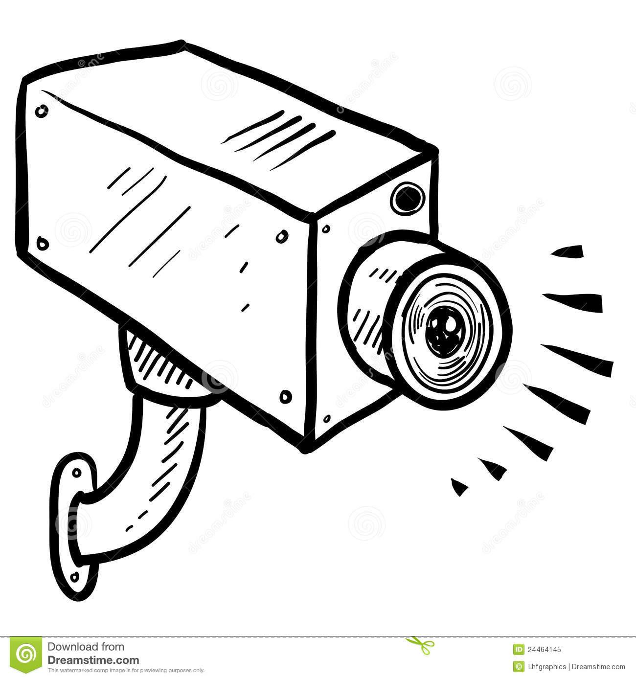 CCTV security camera sketch .