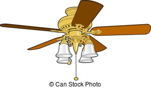 Ceiling Fan - Five blade ceiling fan used to cool and warm a.