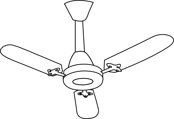 Ceiling Fan Outline Clip Art At Vector Clip Art Online