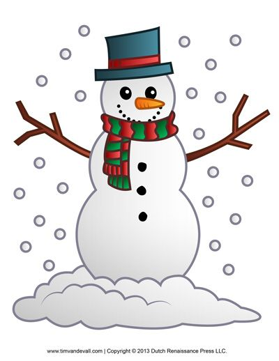 Celebrate Christmas with free snowman clipart, a printable snowman template for kids, snowman Christmas Tree decorations, and a snowman coloring page.