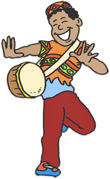 Celebrating Kwanzaa with drums.-Celebrating Kwanzaa with drums.-17