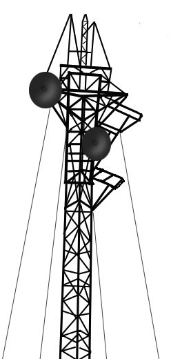 Cell Phone Tower Clipart #1