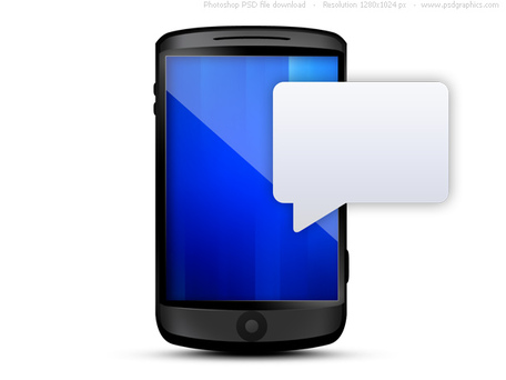 Cellphone with text message bubble (PSD)-Cellphone with text message bubble (PSD)-10