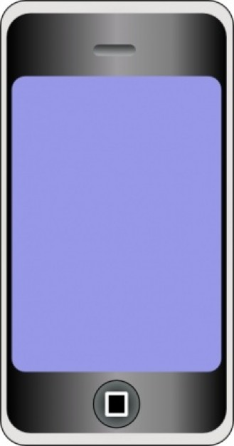 Cellular phone clip art